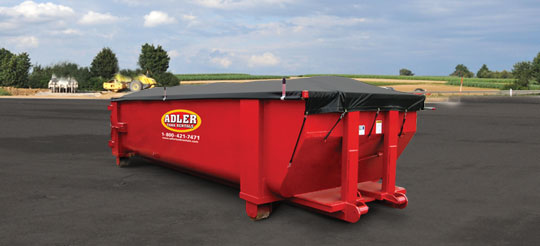 25 Yard Roll Off Canvas Tarp Container